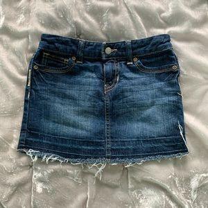 Girls Old Navy Cut Off Jean Skirt